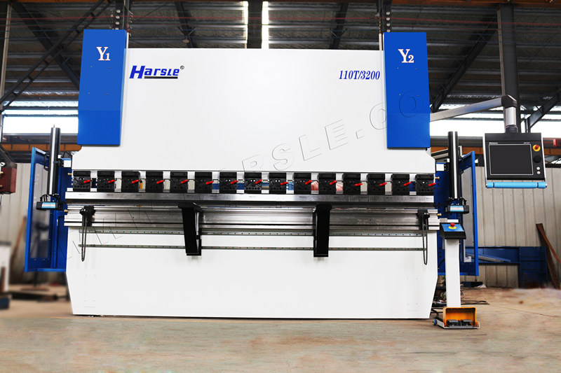 HARSLE WE67K-GENIUS-110T3200 CNC በዩኤስ ውስጥ የተጫነ ብሬክ ማሽን ይጫናል
